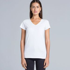 Womens Bevel V-Neck Tee Thumbnail